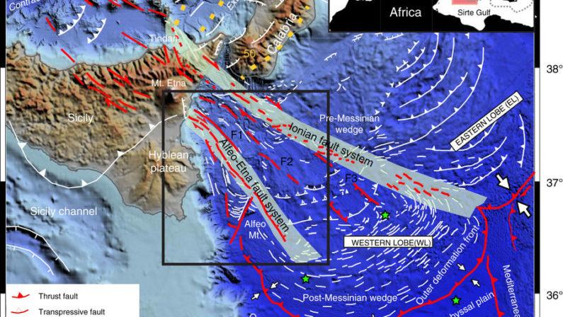 LA SCOPERTA - Ecco perché la Sicilia si allontana dalla CalabriaSistema di faglie antichissimo sotto lo Ionio causa i terremoti