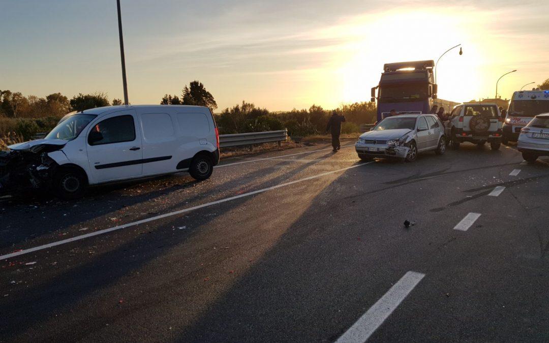 L'incidente avvenuto sulla statale 106