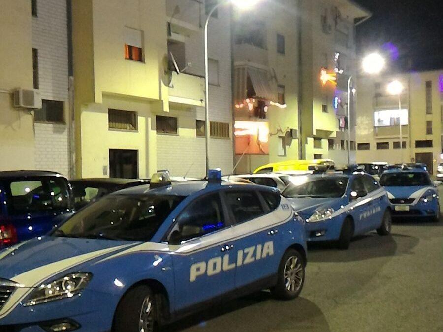 Pattuglie della polizia di Corigliano Rossano