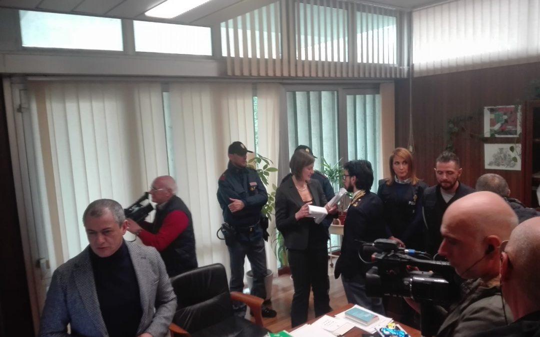 La conferenza stampa di stamattina in Procura a Potenza dopo gli arresti per sfruttamento della prostituzione
