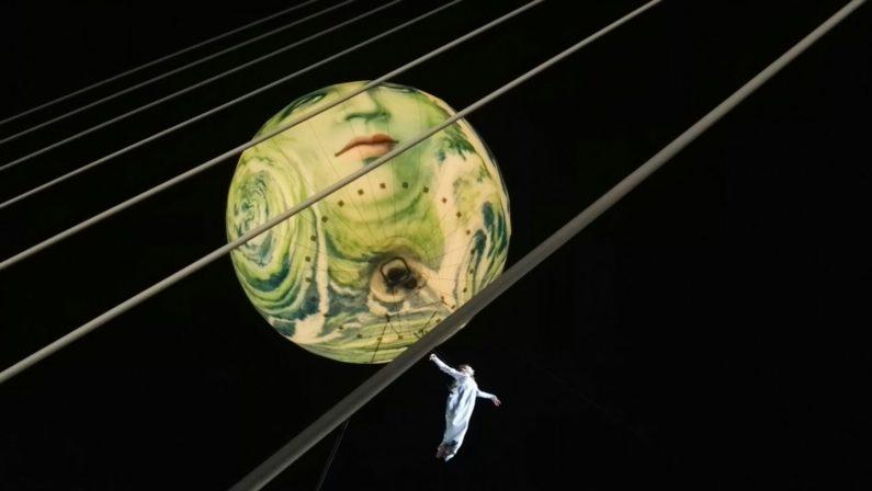 VIDEO - A Cosenza inaugurazione del ponte di Calatrava, le immagini dello show