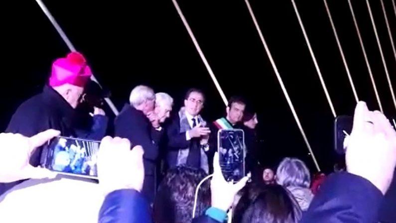 VIDEO - Cosenza, l'intervento di Santiago Calatrava all'inaugurazione del ponte