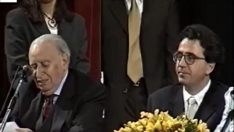 VIDEO - Quando nel 2000 il sindaco di Cosenza Mancini presentò il progetto del ponte di Calatrava