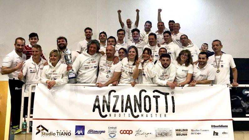 Campionati regionali Master 2018 a CosenzaGrande successo per la Anzianotti nuoto