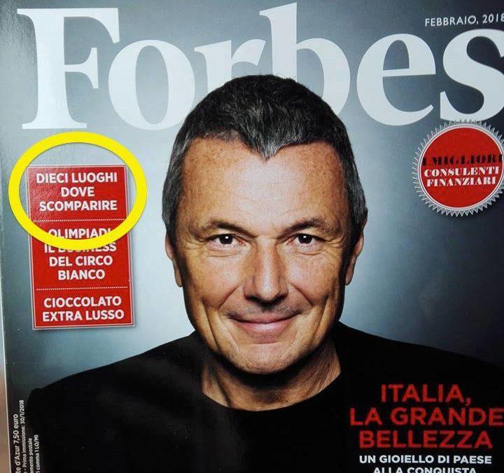 Nel tondo il servizio in cui Forbes Italia inserisce Acerenza