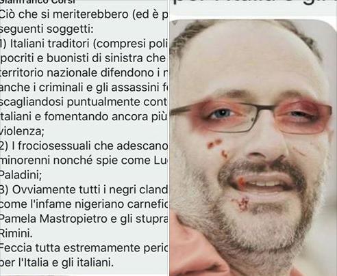Fotomontaggio choc Boldrini, minacce (a firma Gianfranco Corsi) per chi denunciò
