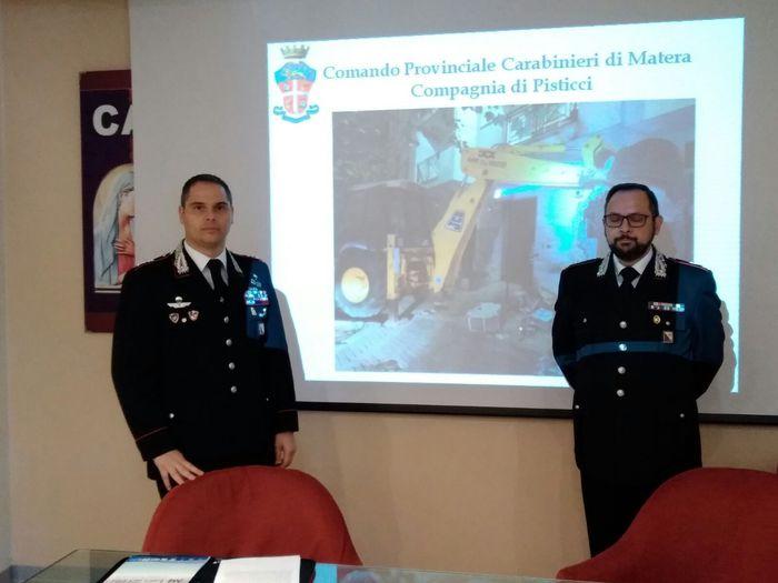 In tre mesi hanno chiuso il cerchio i carabinieri del Comando provinciale di Matera