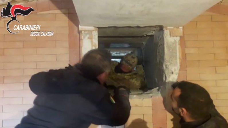 Scoperti i bunker della 'ndrangheta nel Reggino  Sistemi elettromeccanici per i nascondigli segreti