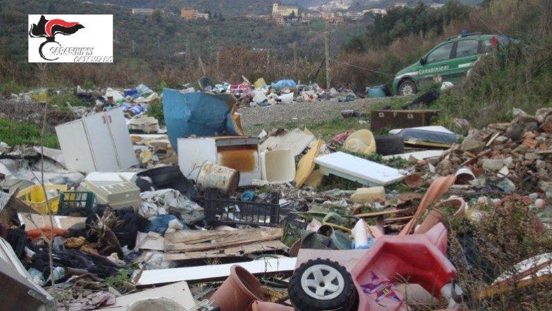 Ambiente, discarica abusiva scoperta nel CatanzareseL'area recintata è di proprietà dell'Azienda ospedaliera