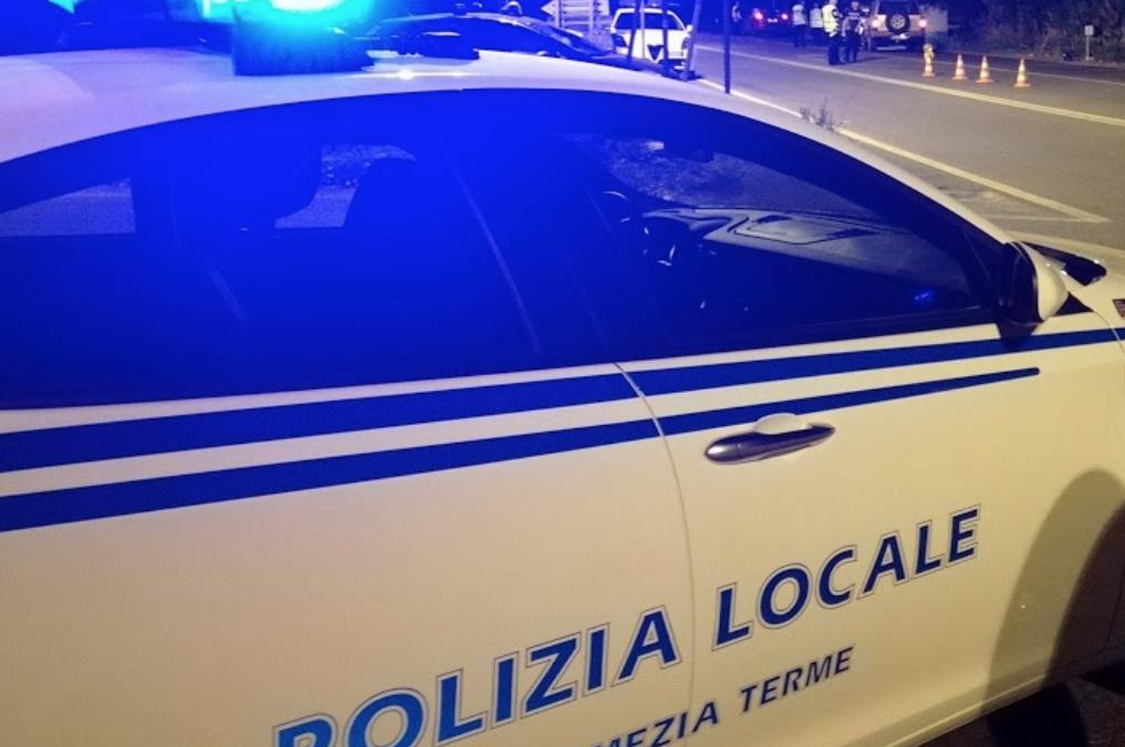 A Sambiase è intervenuta la polizia locale di Lamezia Terme