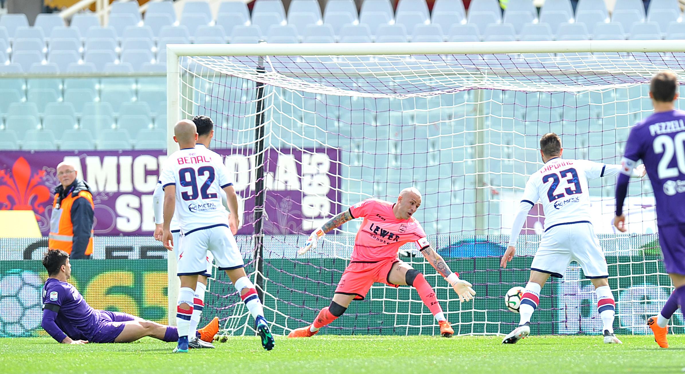 Serie A, il Crotone cede il passo alla FiorentinaAl Franchi il ricordo commosso di Astori e Mondonico