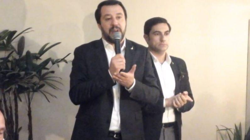 VIDEO - Matteo Salvini in visita a Lamezia Terme«Governeremo la Calabria partendo dalle infrastrutture»