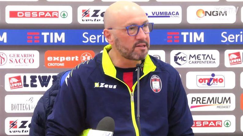 Serie A, il Crotone verso la sfida con il ChievoZenga:«Giocheremo con coraggio e follia»