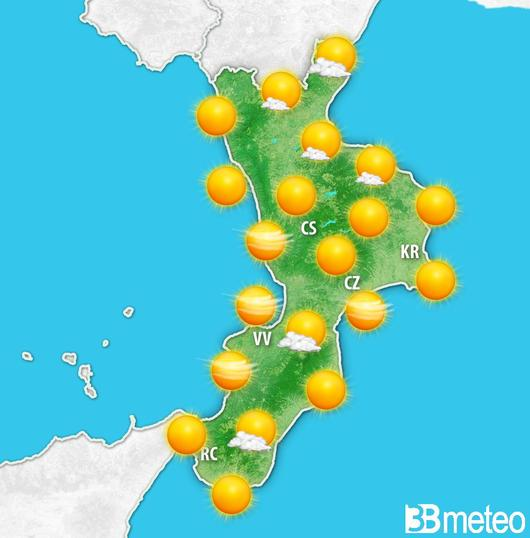 Pasquetta all'insegna del bel tempo in CalabriaMa da martedì in arrivo una nuova perturbazione