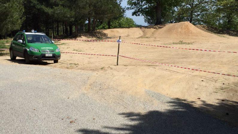 Sequestrata una pista per motocross nel CosentinoEra stata realizzata in un'area protetta da tutela