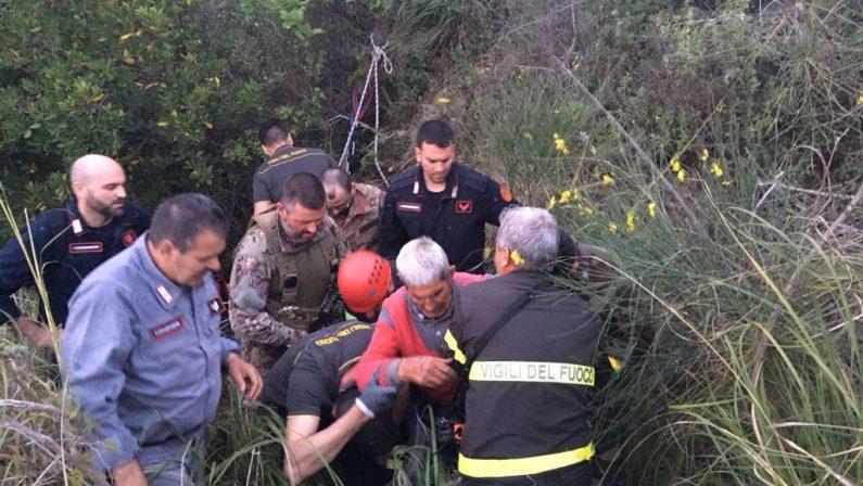 Scomparso domenica e trovato in fondo a un burronePortato in salvo un uomo 82enne di Gioiosa Ionica