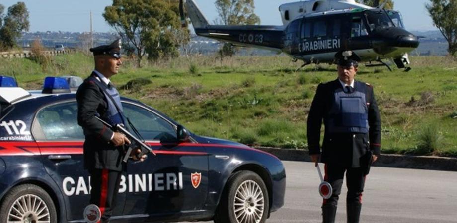 Un'operazione dei carabinieri