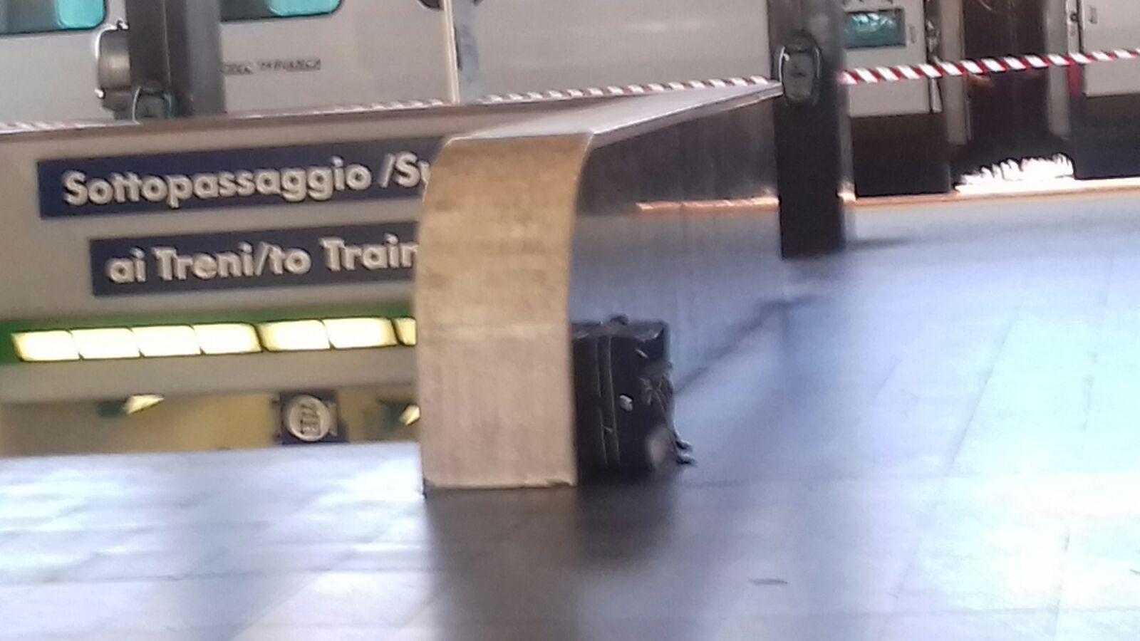 Valigia sospetta, chiusa la stazione centrale di Reggio  Allarme per il bagaglio rinvenuto vicino al sottopasso