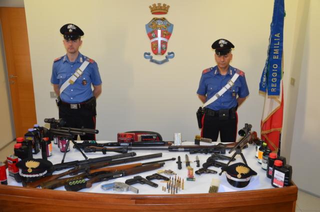 Sequestrate armi ed esplosivi a Reggio EmiliaL'arsenale era custodito da 3 calabresi, indagini