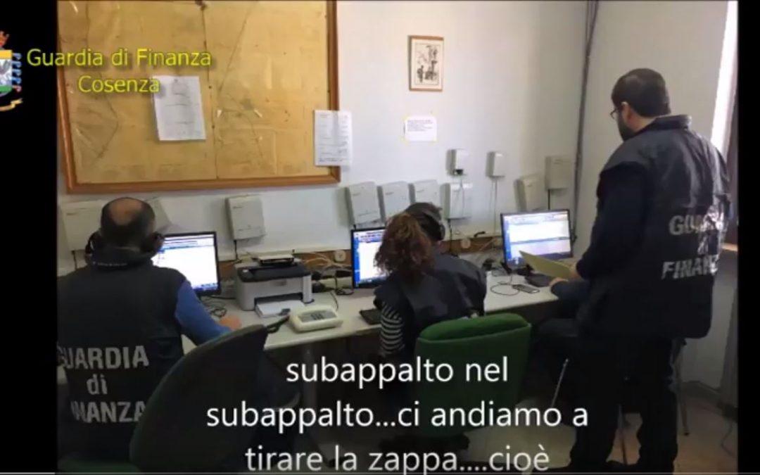 VIDEO – Operazione Accordo comune nel cosentino  Le intercettazioni sull'attività dei 55 indagati