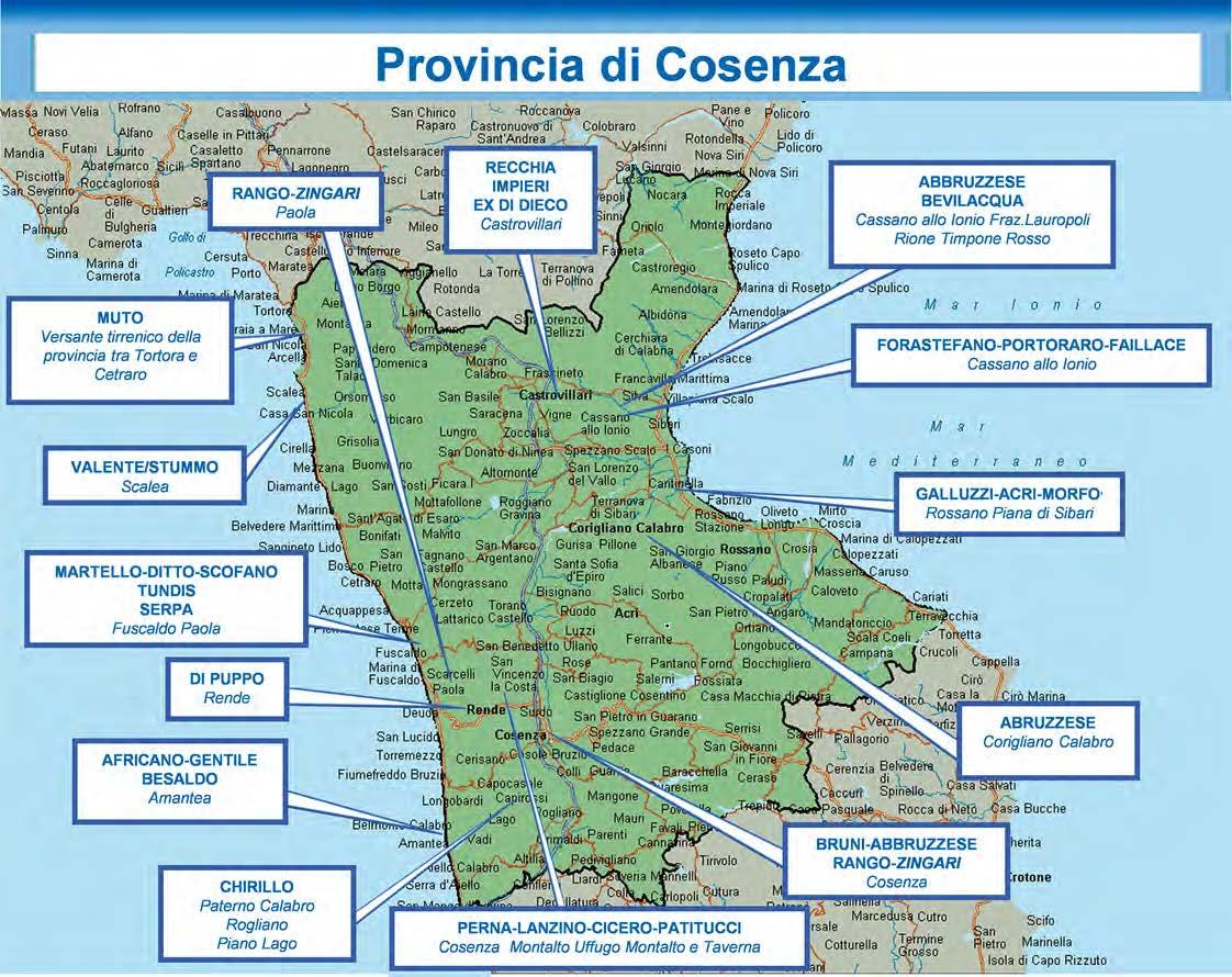 FOTO - L'organizzazione delle cosche di 'ndrangheta nelle province calabresi secondo l'ultima relazione della Dia
