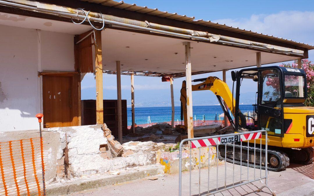 La stabile in via di demolizione