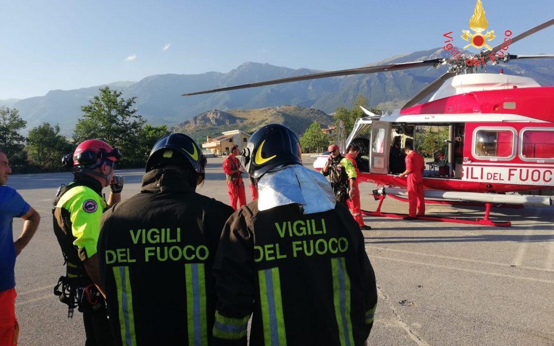 Un soccorso dei vigili del fuoco