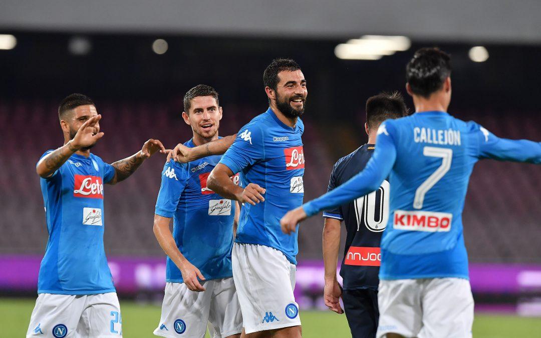 Calcio: il Napoli partito per il ritiro in Trentino