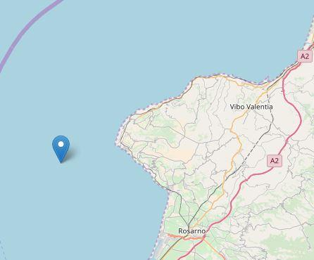 Scossa di terremoto davanti la costa viboneseMagnitudo 3,7, paura tra la popolazione