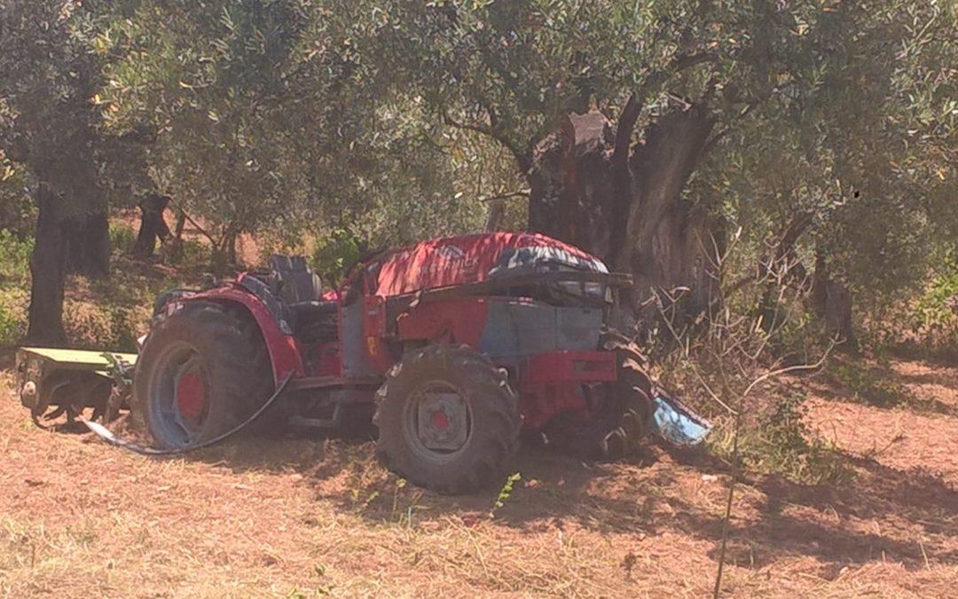 Il trattore che ha causato la morte dell'uomo