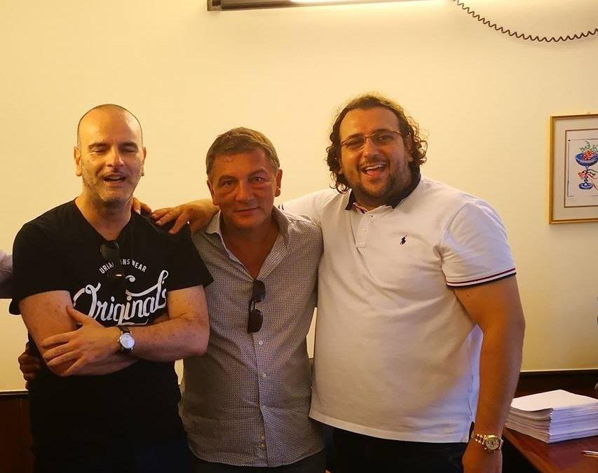 Da sinistra Nico Andrisani, Vitantonio Ripoli e Saverio Columella