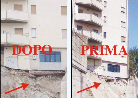 Crollo di via Maratea a Potenza, le immagini choc di uno stillicidio quotidiano