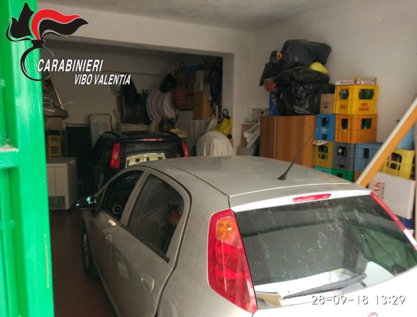 Aveva due auto rubate nascoste in garageArrestato un operaio 36enne a Tropea