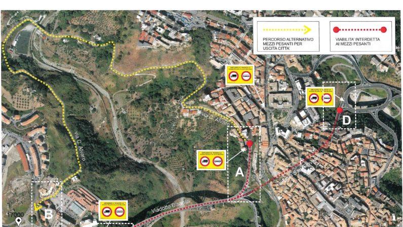 Avviati i lavori al viadotto Morandi di CatanzaroEcco tutte le deviazioni alla viabilità previste dall'Anas