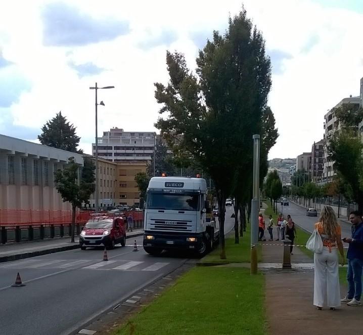 FOTO - Cosenza, al via i lavori per la Metroleggera: così cambia il volto di viale Mancini
