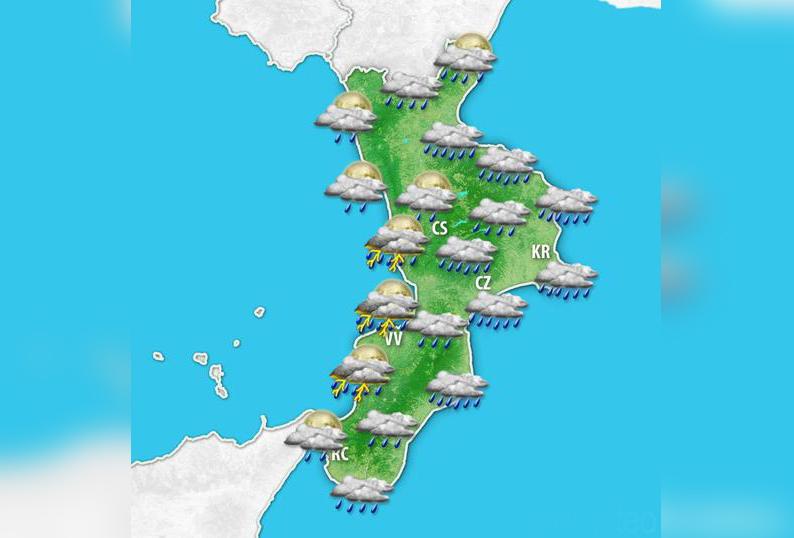 Forti piogge in arrivo su tutta la CalabriaLa Protezione civile dirama una allerta arancione