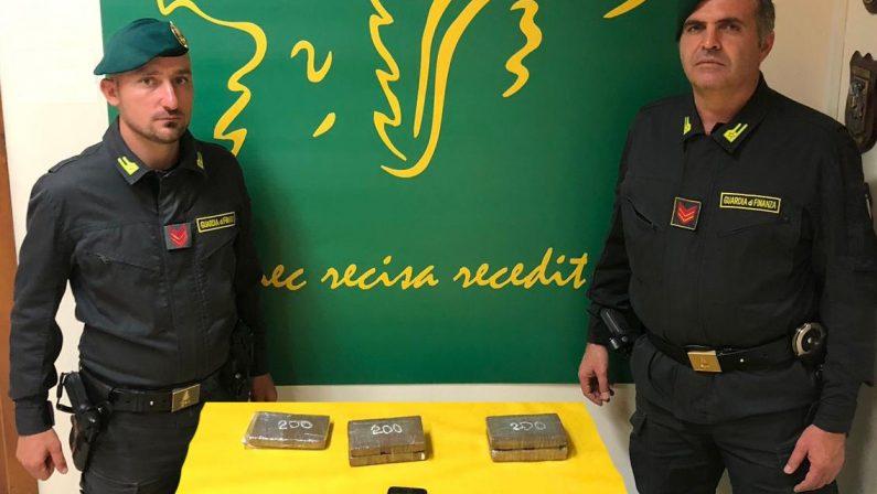 Sorpresi con a bordo droga per centomila euroArrestati in Sicilia marito e moglie di Rosarno
