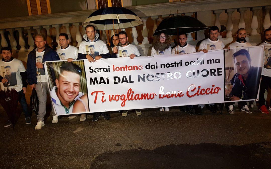 La manifestazione in ricordo di Francesco Vangeli