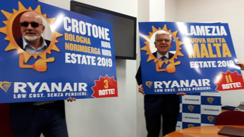 Ryanair scommette sugli aeroporti calabresiQuattordici tratte dalla prossima stagione estiva