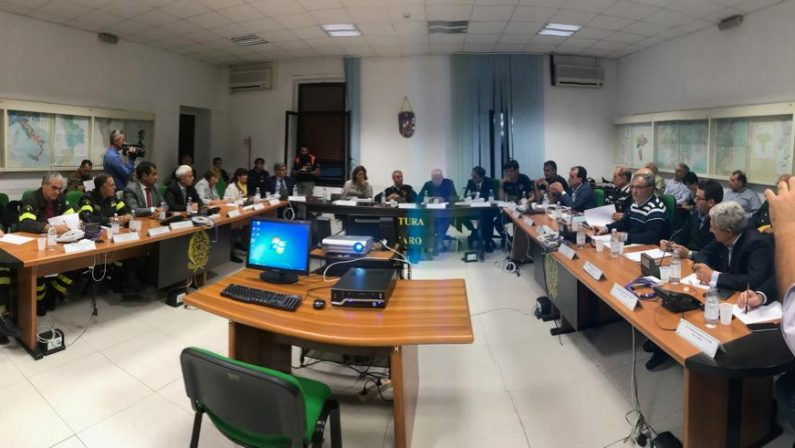 Maltempo in Calabria, scattano gli sgomberi cautelativiVertice a Catanzaro con il capo della Protezione civile