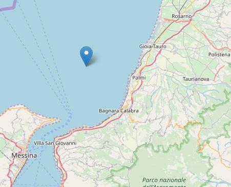 Nuova scossa di terremoto nell'area del RegginoMagnitudo 3.1 antistante la costa di Palmi