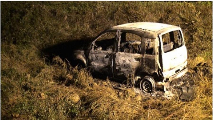 L'auto distrutta di Cricrì