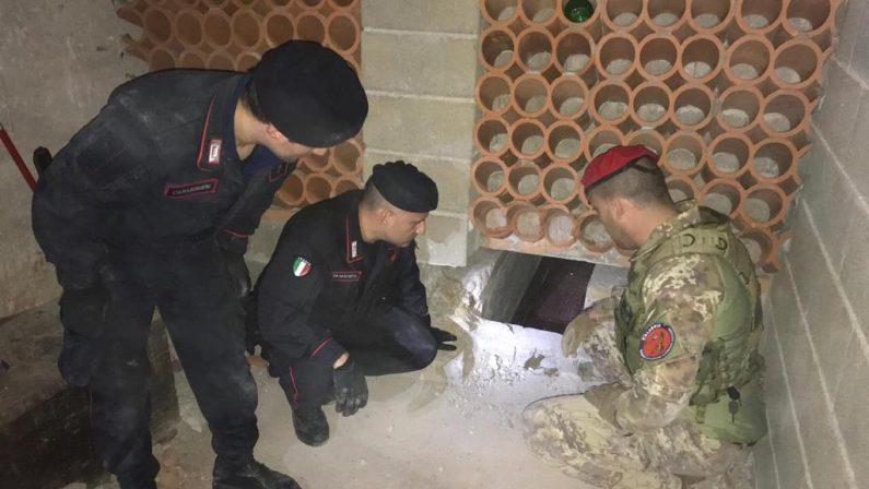 Bunker e droga scoperti e pene da scontareSettimana intensa per i carabinieri nel Reggino