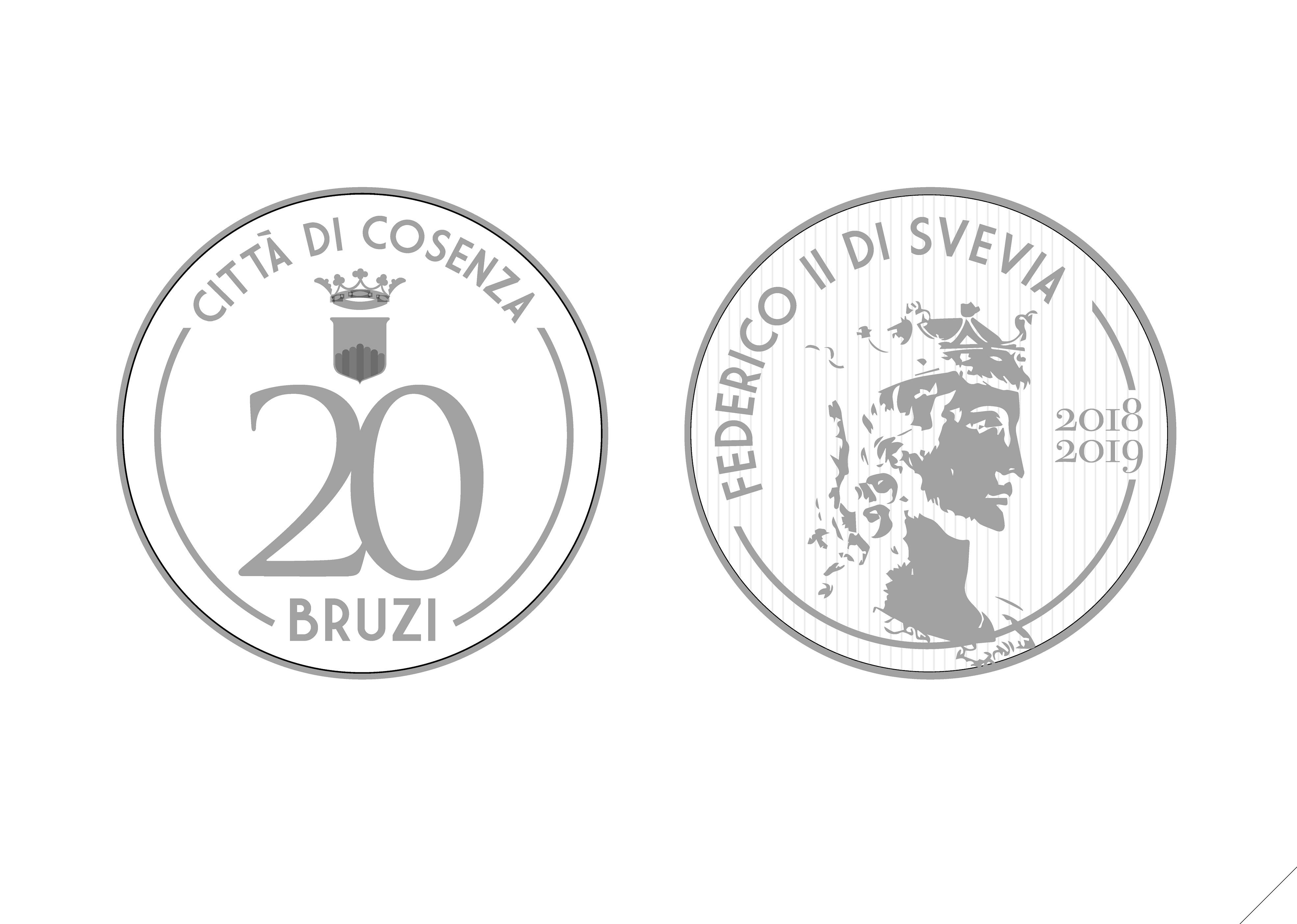 """Il comune di Cosenza conia la """"sua"""" moneta  Ecco i Bruzi: grandi come 2 euro ne valgono 20 euro"""