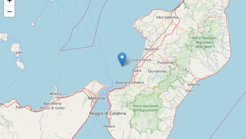 Doppia scossa sismica con magnitudo superiore a 3 registrata sulla costa tirrenica calabrese