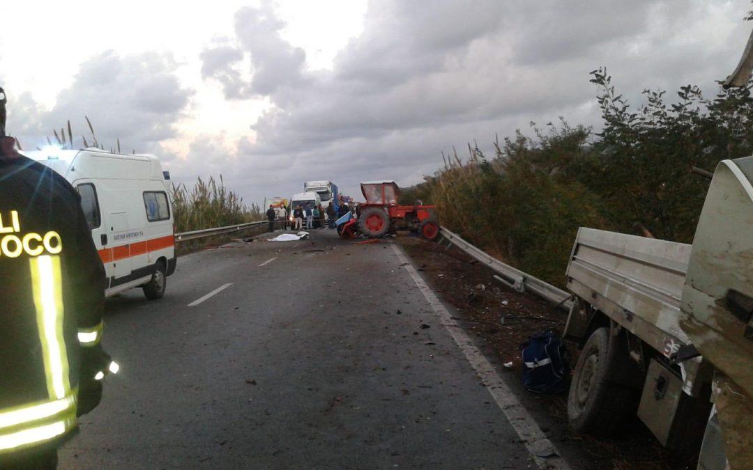 L'incidente avvenuto tra Nocera Terinese e Campora San Giovanni