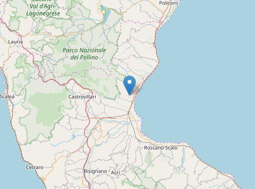 Scossa di terremoto nella notte nel CosentinoMagnitudo 3.1, non sono stati registrati danni