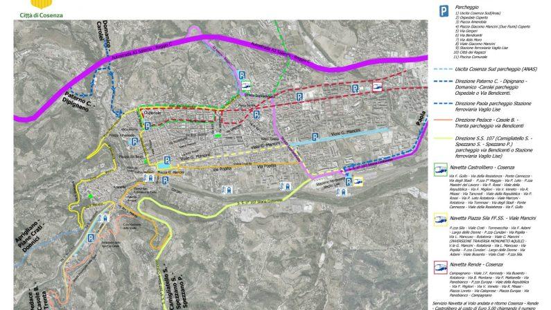 FOTO - Capodanno 2019, le mappe della viabilità di Cosenza
