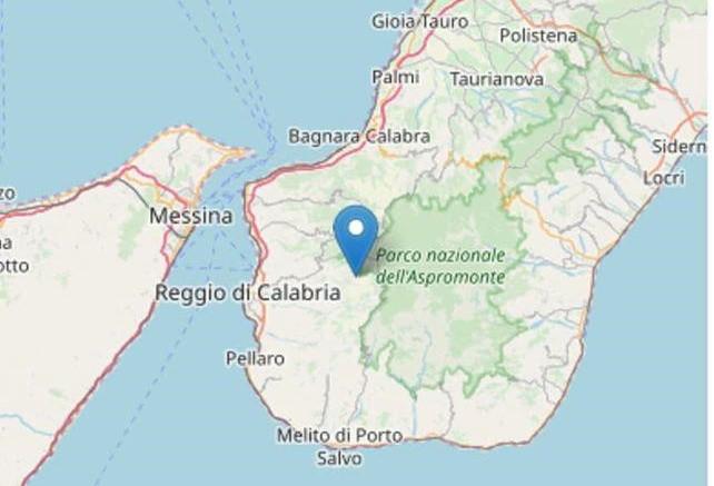 Scossa sismica in provincia di Reggio CalabriaAlle 6:24 registrata una magnitudo pari a 2.4