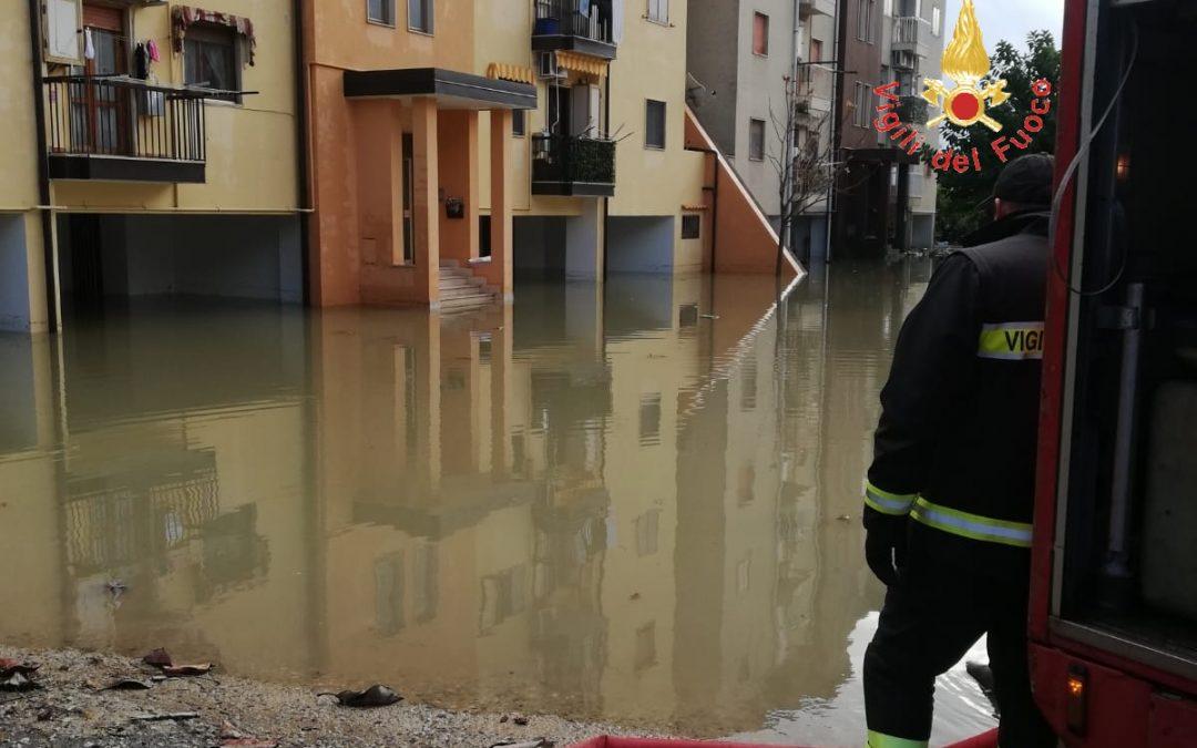 Interventi dei vigili del fuoco a Soverato